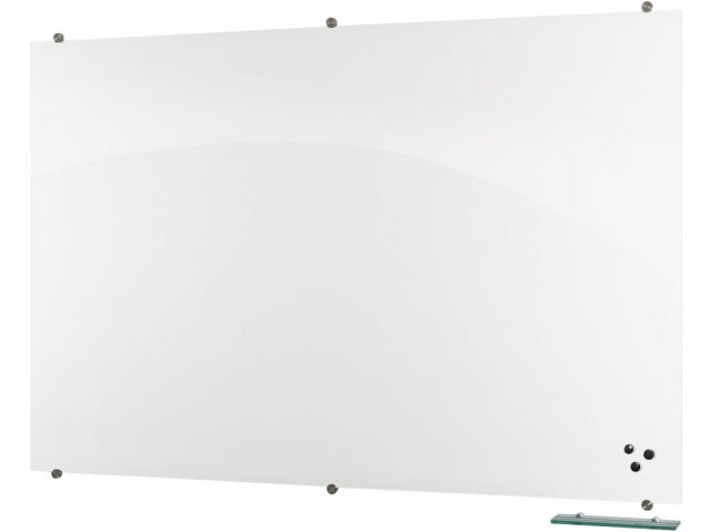 visionary magnetic glass whiteboard 4 39 x6 39 wall mounted. Black Bedroom Furniture Sets. Home Design Ideas