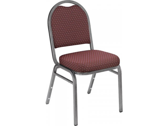 Marvelous Dome Back Fabric Stacking Chair