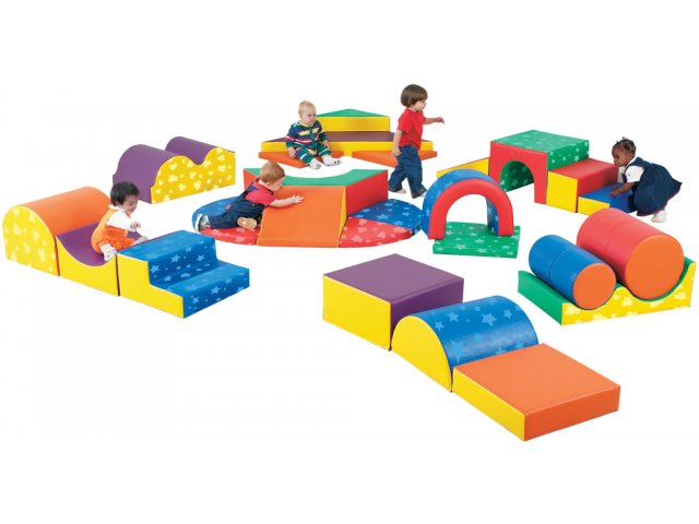 Gross motor soft play forms set of 28 shapes cfp 113 for Motor age training coupon code