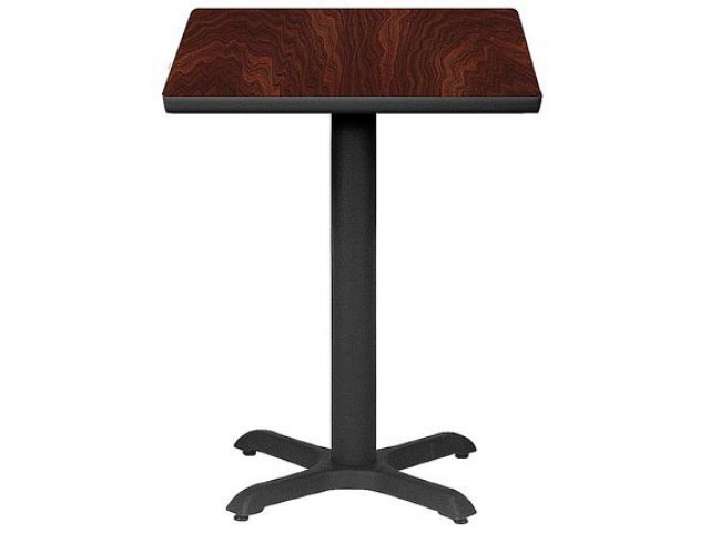 Square Cafe Table With X Base