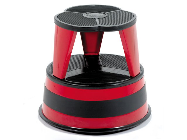 Kik step stool Round Kikstep Rolling Steel Step Stool Hertz Furniture Kikstep Rolling Steel Step Stool Cks1001 Step Stools
