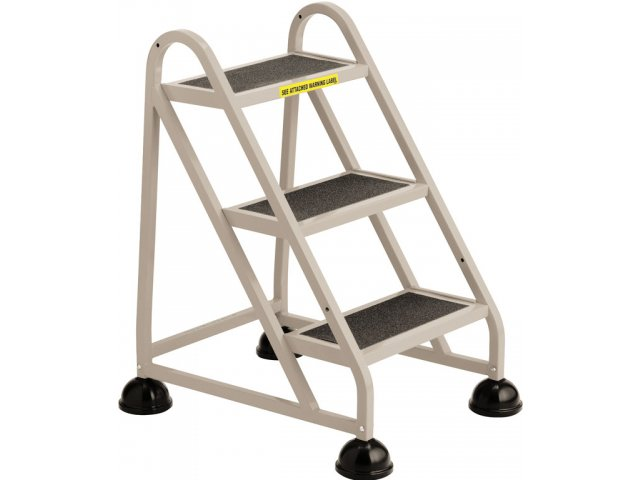 Incredible Stop Step Aluminum Safety Ladder 3 Steps Machost Co Dining Chair Design Ideas Machostcouk
