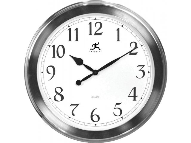 Argent Oversized Decorative Classroom Wall Clock 20 Wall
