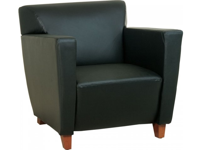 Contemporary Leather Club Chair CLR 8471 Soft Seating