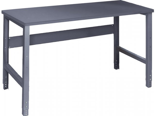 Adjustable Height Steel Workbench   Steel Top