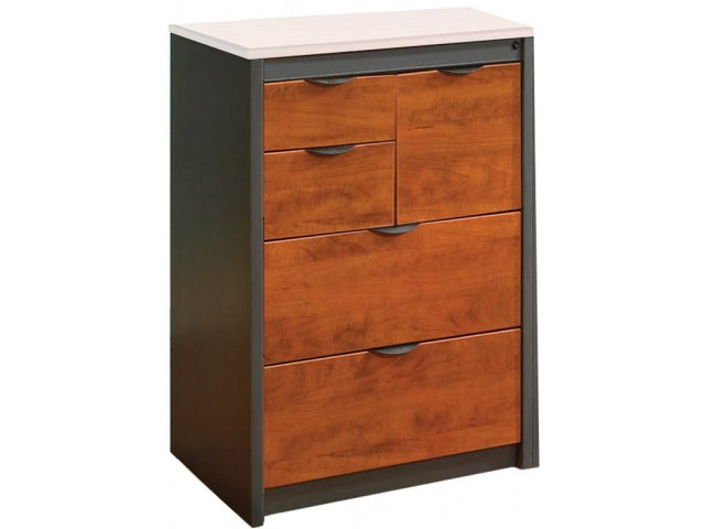 Counter Height Lateral & Vertical File Cabinet No Top
