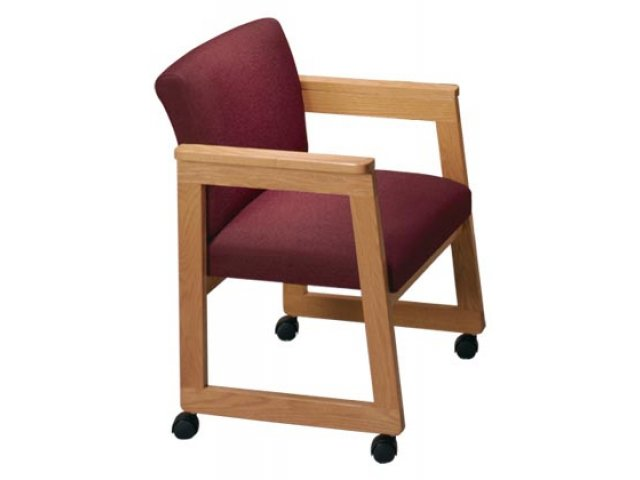 Good Tapered Arm Chair With Casters  Gr. 2 Fabric