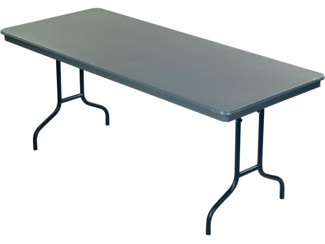 "Plastic Folding Table : Dynalite Lightweight Plastic Folding Table 72x36"", Folding Tables"
