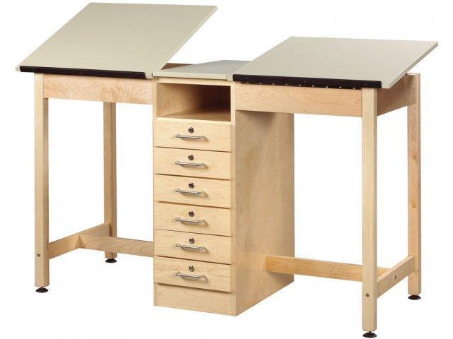 Twin Drafting Table 6 Drawers Dvr 21a Drafting Art Tables