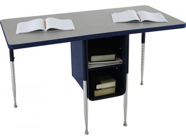 Adjule Height Double School Desk