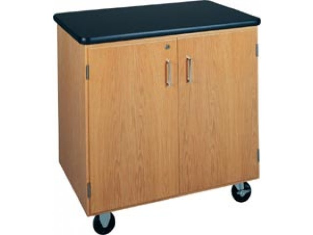 Mobile storage cabinet with laminate top dvr lab