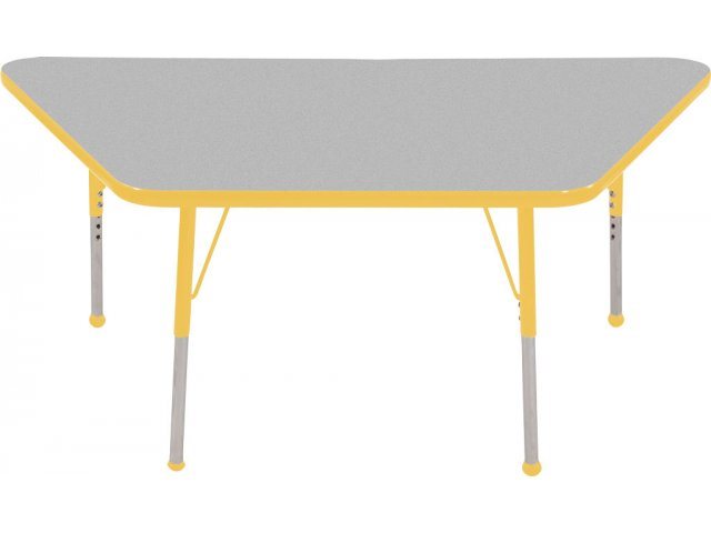 Ecr4kids adjustable height trapezoid classroom table 18x30 for Trapezoid table
