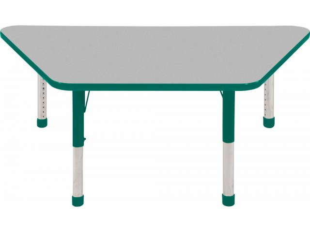 Ecr4kids adjustable height trapezoid classroom table 30x60 for Trapezoid table