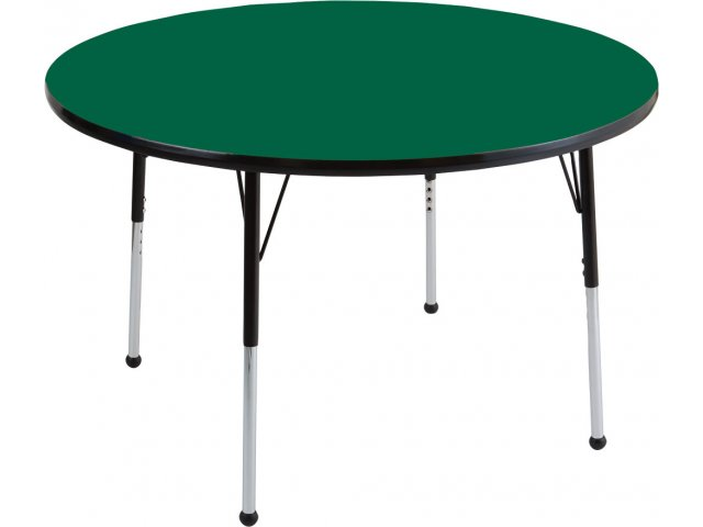 """Table Height 36: ECR4Kids Adjustable Height Round Classroom Table 36"""" Dia"""
