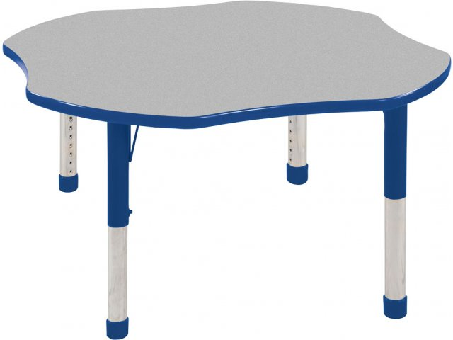 Ecr4kids Adjustable Height Clover Classroom Table 48 Quot Dia