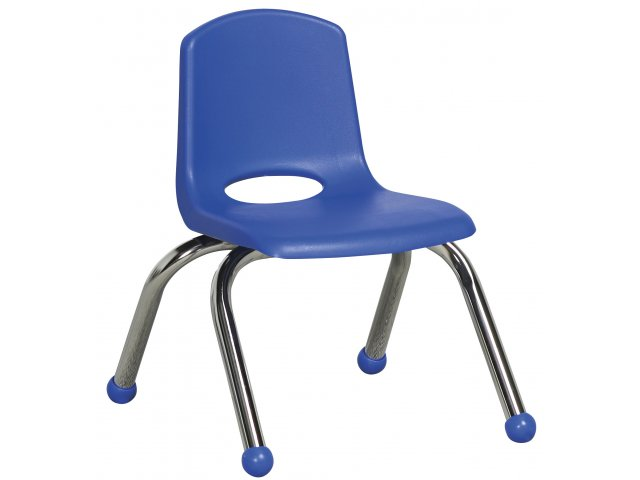Ecr Poly Classroom Chair Chrome Legs 10 Quot H Preschool Chairs