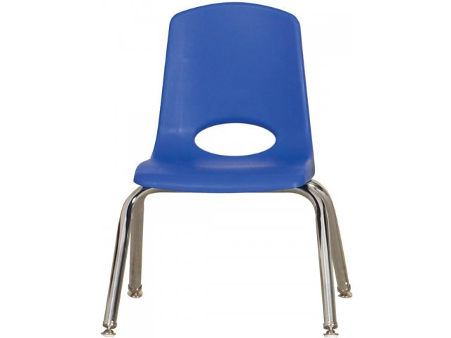 Ecr Poly Classroom Chair Chrome Legs 12 H Preschool Chairs