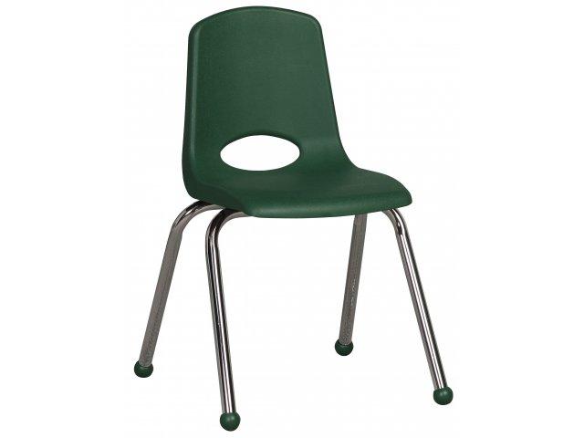 ECR Poly Classroom Chair   Chrome Legs
