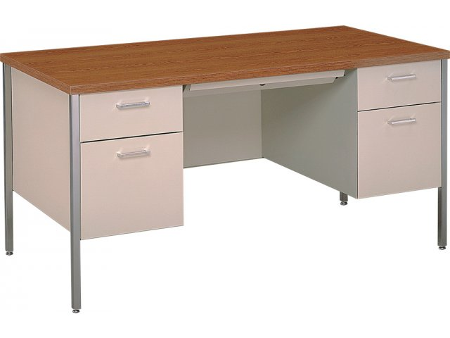 Steel Executive Double Pedestal Teachers Desk 60 Quot X30