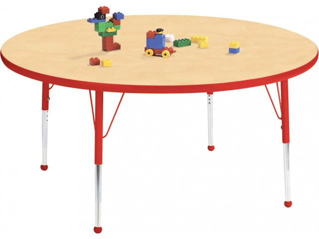 "Edu Edge Round Activity Table With Ball Glides 36"" Dia"