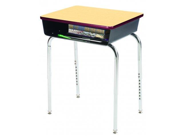 Open Front School Desk Metal Bookbox, What Is The Size Of A School Desk