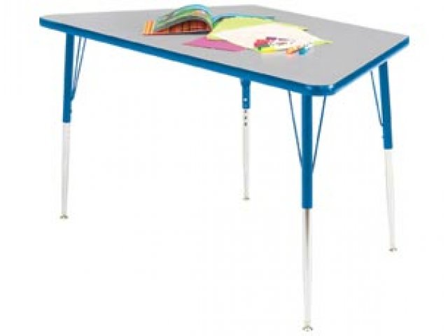 Educational edge trapezoid activity table 24x24 classroom for Trapezoid table
