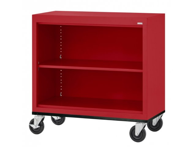 Educational Edge Steel Mobile Bookcase - Educational Edge Steel Mobile Bookcase 3'Wx3'H, Library Shelving