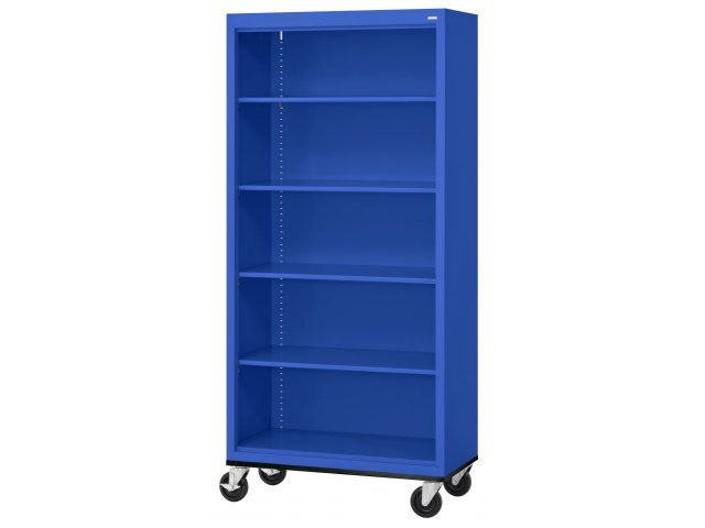 Educational Edge Steel Mobile Bookcase - Educational Edge Steel Mobile Bookcase 36