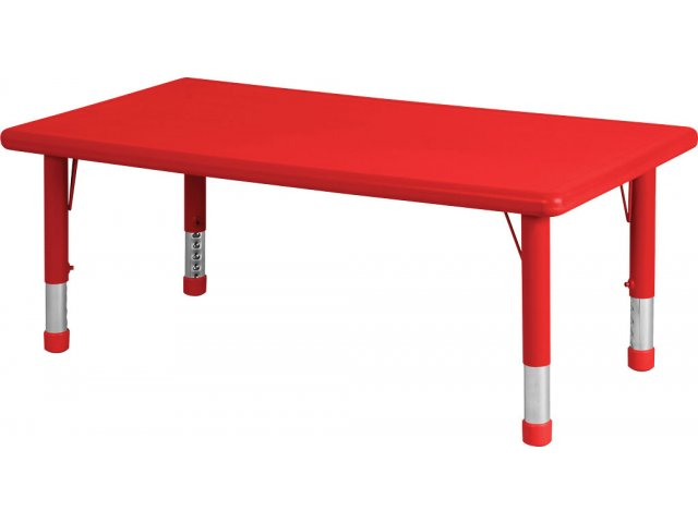 Adjustable Rectangle Resin Preschool Table 24x48