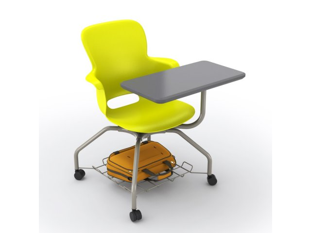 """Ethos Mobile School Chair with Storage, Tablet 18""""H"""