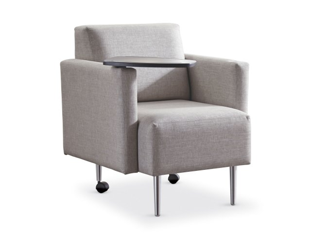 Eve Club Chair With Upholstered Arms Tablet Grade 3