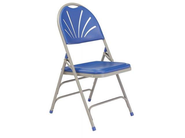 High Comfort Lightweight Fan Back Folding Chair