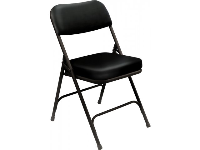 Thick Vinyl Upholstered Folding Chair