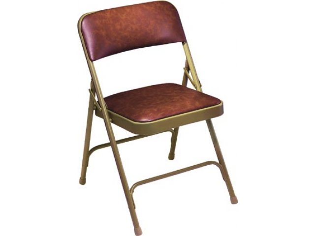Vinyl Upholstered Double Brace Folding Chair FHC 1200 Banquet Chairs