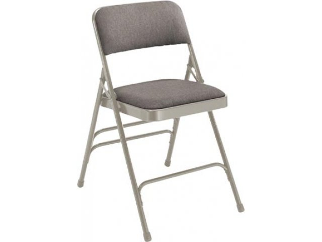 Premium Fabric Upholstered Triple Brace Folding Chair