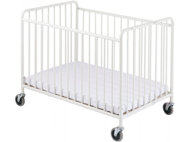 Stowaway Steel Folding Crib W Mattress Fnd 1231 Daycare Cribs