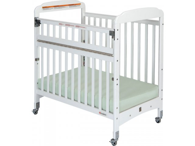 Serenity safereach compact crib clearview w mattress fnd 300sr daycare cribs - Compact cribs small spaces model ...