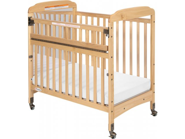 Serenity safereach mirrored compact crib w mattress fnd 300srm daycare cribs - Compact cribs small spaces model ...