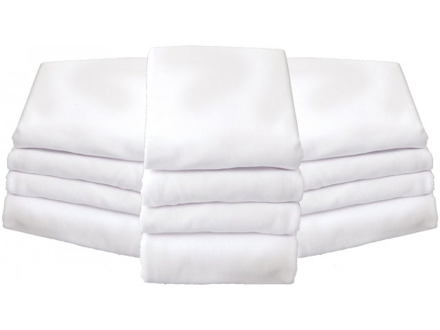 """12 Pck Foundations White Fitted Sheets for 2 4"""" Mattress"""