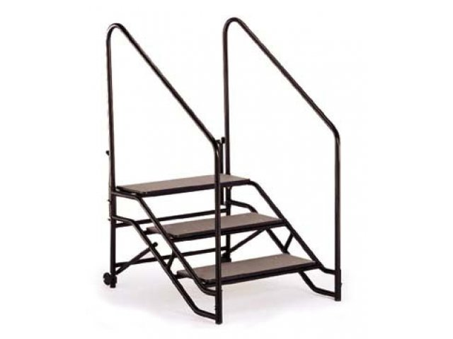 Portable Stage Steps With Handrails : Portable steps with handrails for h or mobile stage