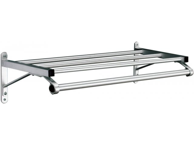 Value Line Wall Mounted Coat Rack With Hat Shelf 2 Coat
