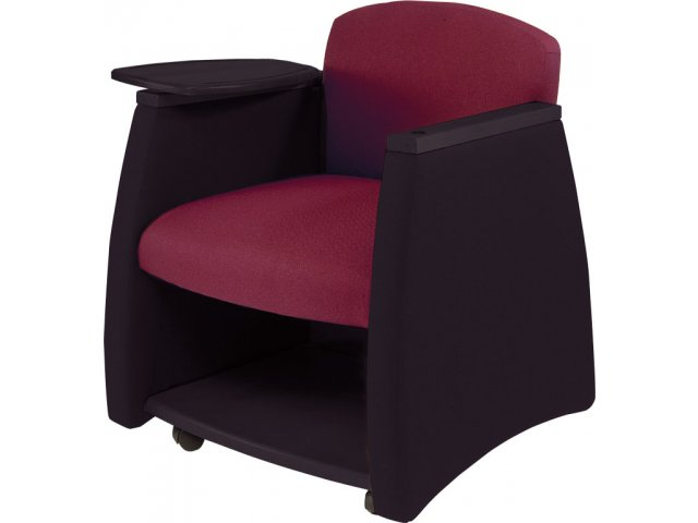 Swell Two Tone Arm Chair W Black Finish Storage Compartment Ibusinesslaw Wood Chair Design Ideas Ibusinesslaworg