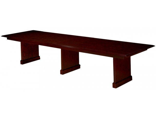 Rectangular conference table w slab base 12 39 wide for 12 wide table