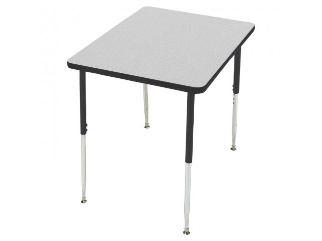 Group Study Adjustable Square Preschool Table 48x48 Classroom Tables