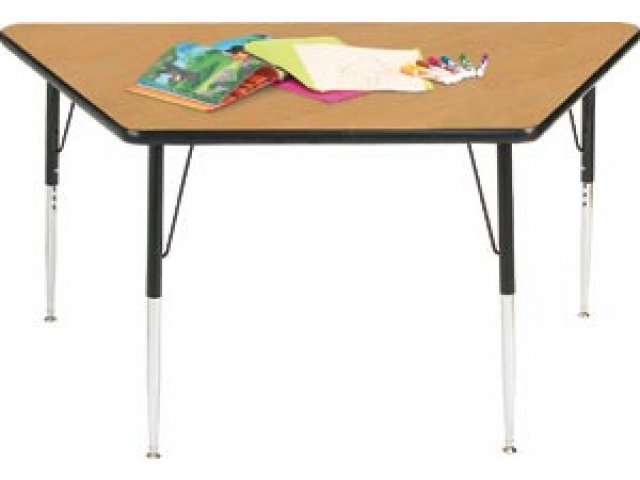 "Group Study Adjustable Trapezoid Activity Table 60x30"", Classroom"