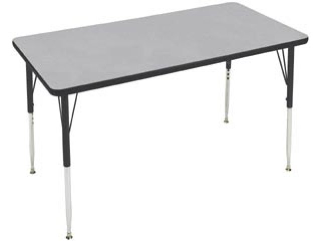 Attractive Group Study Adjustable Rectangle School Table
