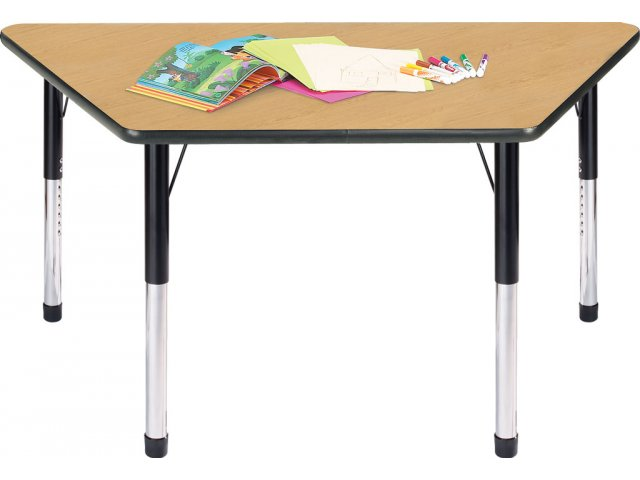 Hercules adjustable height trapezoid activity table 24x48 for Trapezoid table