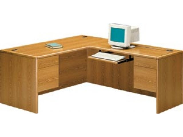 hon l shaped office desk w  right return hon 2000r  office