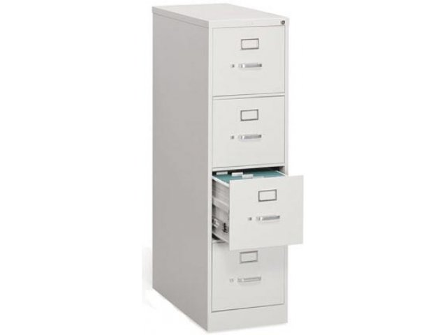 4 Drawer Letter Vertical File Cabinet  sc 1 st  Hertz Furniture : four drawer file cabinet metal - Cheerinfomania.Com