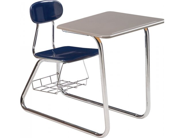 Sled Base Combo Desk Hard Plastic Top 18 Quot H Student